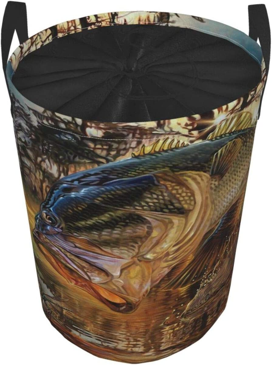 Janrely Large Round Storage Basket with Handles,Flag and Map of The Country of Peru,Waterproof Coating Organizer Bin Laundry Hamper for Nursery Clothes Toys 19x 14