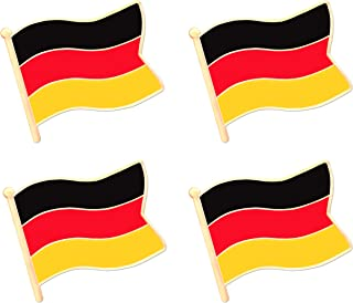 Germany German Flag Lapel Pin Decorations (4 Pack)