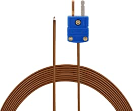 PerfectPrime TL0024TT, Thermocouple T-Type Low Temperature Sensor/Probe, -200~260°C / -328~500°F, 2 Meter Long