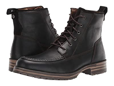 Lucky Brand Garrison (Black Distressed Full Grain) Men
