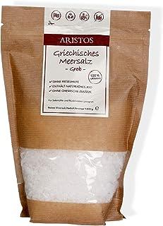 Grobes Meersalz | 1kg Salz aus Griechenland für Salzmühle,