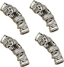 RechicGu Pack 4 Norse Viking Dragon Beard Bead Rasta Dreadlocks Braid Hair Dress Clip Pin