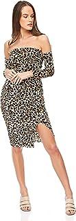 Diva London Velvet Leopard Print Top and Skirt - M