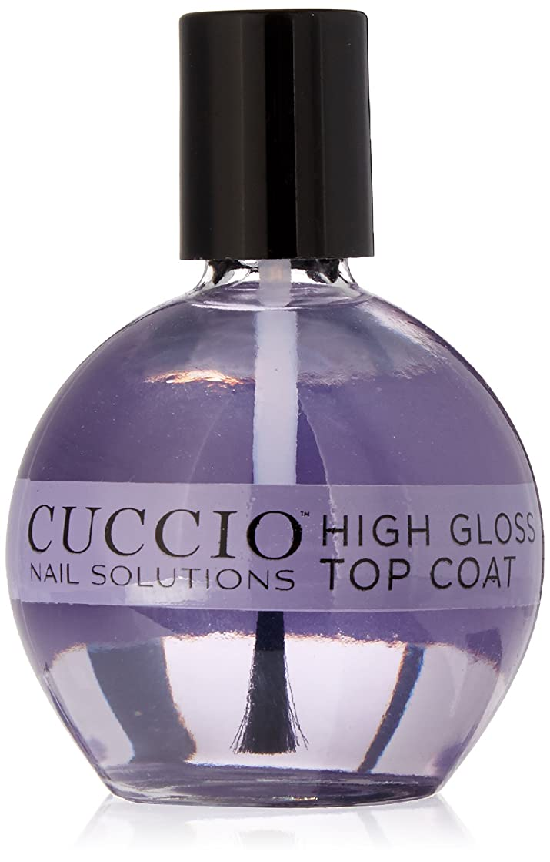 へこみ食べる転倒Cuccio Nail Treatments - High Gloss Top Coat - 75 mL / 2.5 oz