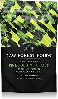 Mountain Harvest Pine Pollen Powdered Extract | Clinical Strength Potent 10:1 Wild Harvested Pine Pollen Extract - Cracked Cell Wall | 65 Grams