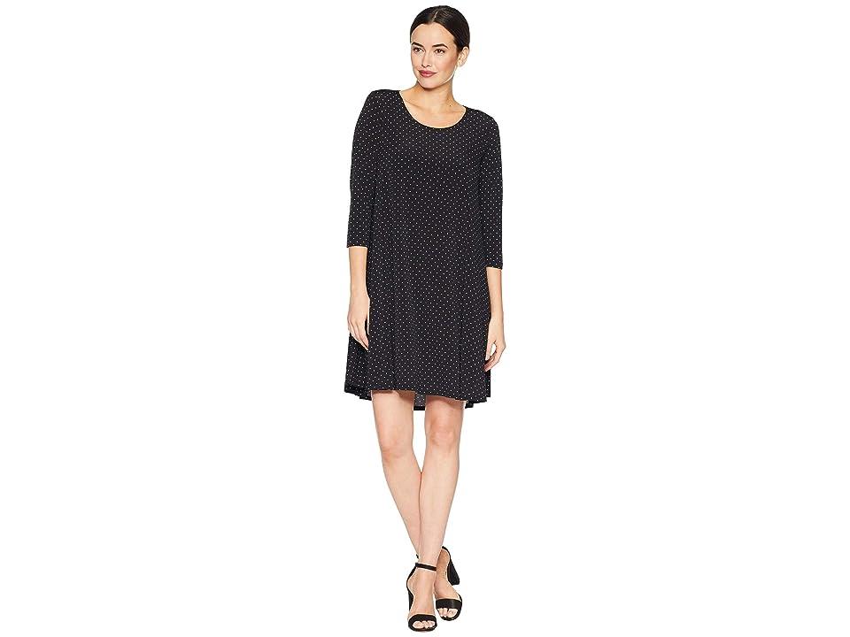 Karen Kane 3/4 Sleeve Maggie Dress (Dot Print) Women