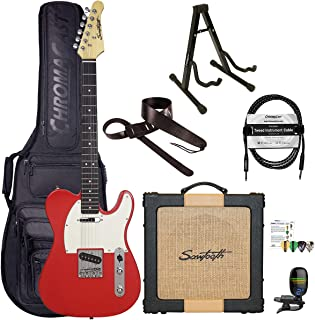 Sawtooth Classic ET60 Habanero Red Guitar Players Pack