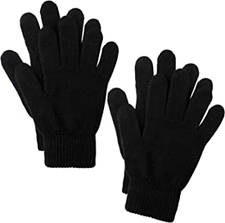 Cooraby 2 Pairs Winter Magic Gloves Classic Knit Warm Gloves Accessories for Man, Woman or Teens
