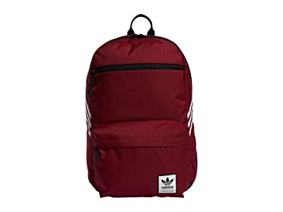 adidas Originals Originals National SST Recycled Backpack (Collegiate Burgundy/White) Backpack Bags