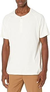Men's Short-Sleeve Sueded Jersey Henley