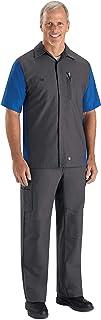 Sponsored Ad - Red Kap Men's Rip-stop Short-sleeve Crew Shirt