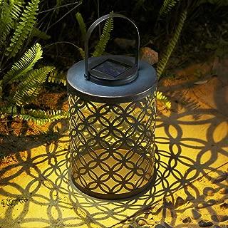 Outdoor Lantern, Tomshine IP44 Waterproof Hanging Solar Lantern Bronze Finished Solar Lantern Outdoor