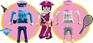 Outletdelocio. Playmobil 9829. Multi Set Niña. Incluye 1 Figura Playmobil Intercambiable, Policia, Pirata o Tenista