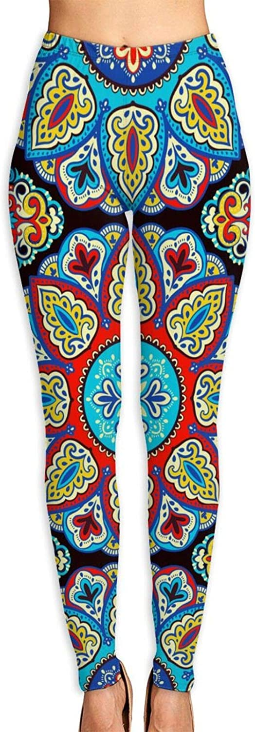 xqqr Womens Yoga Inventory cleanup selling sale Max 82% OFF Pants Bohemian Mandala Indian Medallion Ethnic