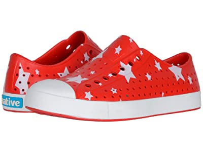 Native Shoes Jefferson Print (Torch Red/Shell White/Multi Stars) Athletic Shoes