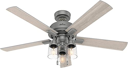 Hunter Fan Company 50651 Hartland Ceiling Fan, 52, Matte Silver Finish