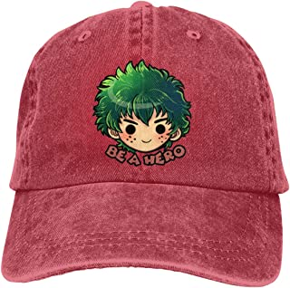 UXUEYING Be A Hero Deku Adjustable Baseball Cap Hip-Hop Unisex Snapback Hat Outdoor Bike Sun Cap