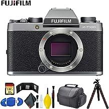 $445 Get FUJIFILM X-T100 Mirrorless Digital Camera (Body Only, Dark Silver) Pro Bundle
