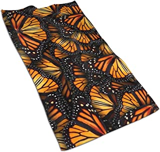Heaps of Orange Monarch Butterflies Kitchen Towels ¨C 17.5X27.5in Microfiber Terry Dish Towels for Drying Dishes and Blotting Spills ¨CDish Towels for Your Kitchen Decor