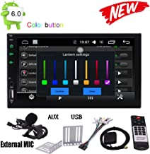 Android 6.0 Marshmallow 7 Inch HD Digital Touch Screen Car Stereo Double Din Quad-core Multimedia Player GPS Navigation Support GPS Sat Nav Bluetooth 4.0 Autoradio SD USB WIFI AUX 3G 4G FM/AM Radio SW