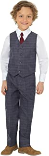 Shiny Penny Boys Formal Suit Set with Shirt and Choice of Bow Tie or Necktie