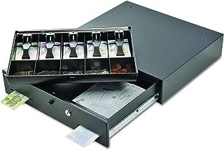STEELMASTER Alarm Alert Steel Cash Drawer w/Key & Push-Button Release Lock, Black (225106001)