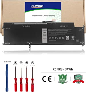 Indmird OEM XCNR3 Laptop Battery Replacement for Dell Latitude 13 7370 Ultrabook WV7CG 0WV7CG(7.6V,34Wh)