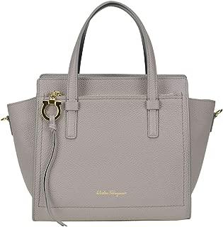 Luxury Fashion   Salvatore Ferragamo Womens MCGLBRE0000A7030E Grey Handbag   Season Outlet