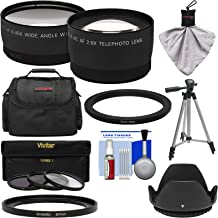 Bower FA-DC67A Adapter Ring (67mm) with Tele/Wide Lenses + 3 Filters + Case + Hood + Kit for Canon PowerShot SX530, SX540 & SX60 HS Camera