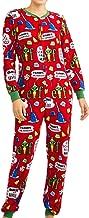 Elf Womens Christmas Union Suit Pajamas Drop Seat Pjs Lounge