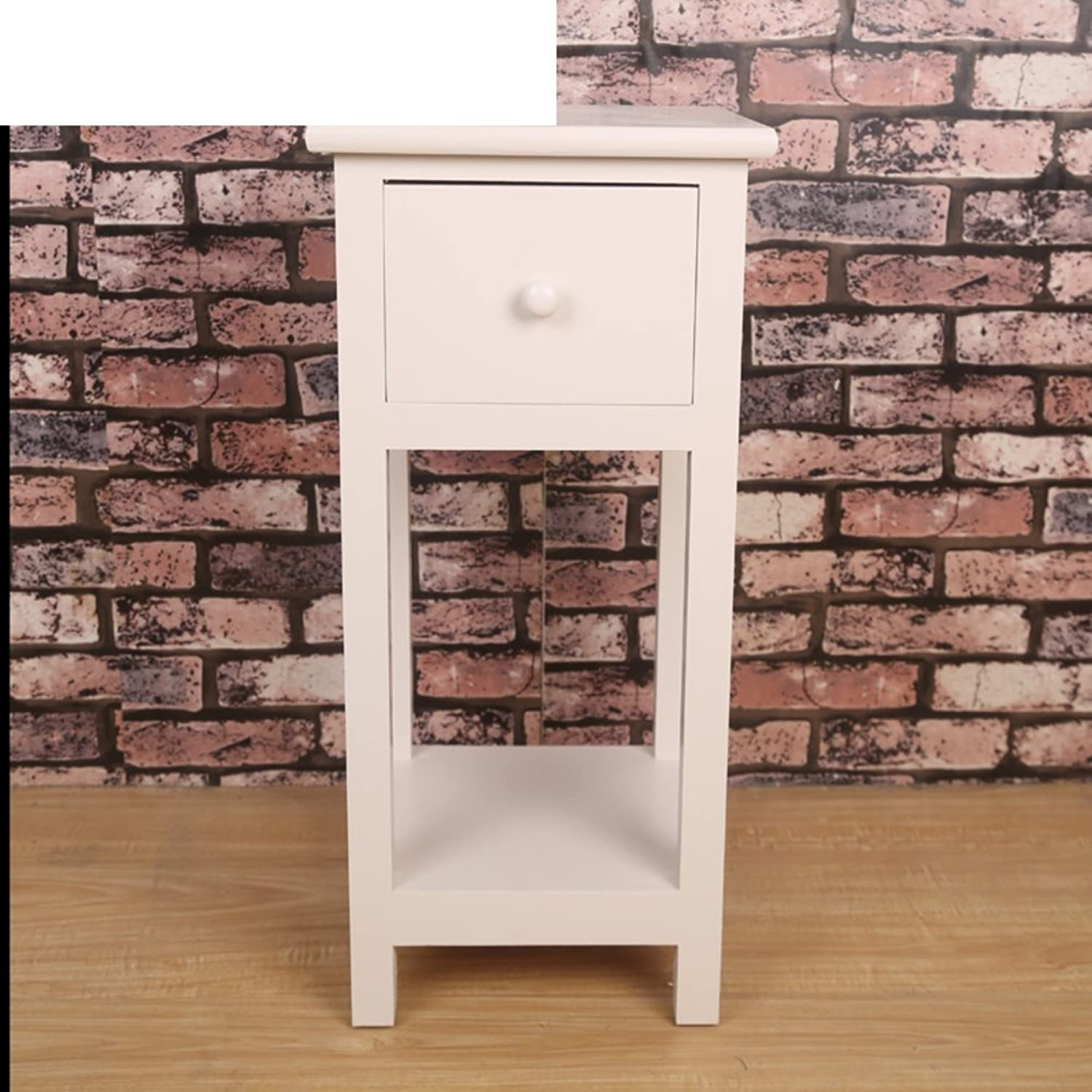 Little Bedside Table Solid Wood Widened Simple Small Cabinet Bedroom Cabinet Narrow Cabinet Continental Bed Cabinet-H 28x28x60cm(11x11x24)