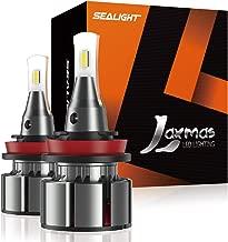 SEALIGHT Laxmas L2 H11/H8/H9 LED Headlight Bulbs, Ultra-thin, 360-degree Illumination, 6000K Daylight Effect, 200% Brightness, Pack of 2