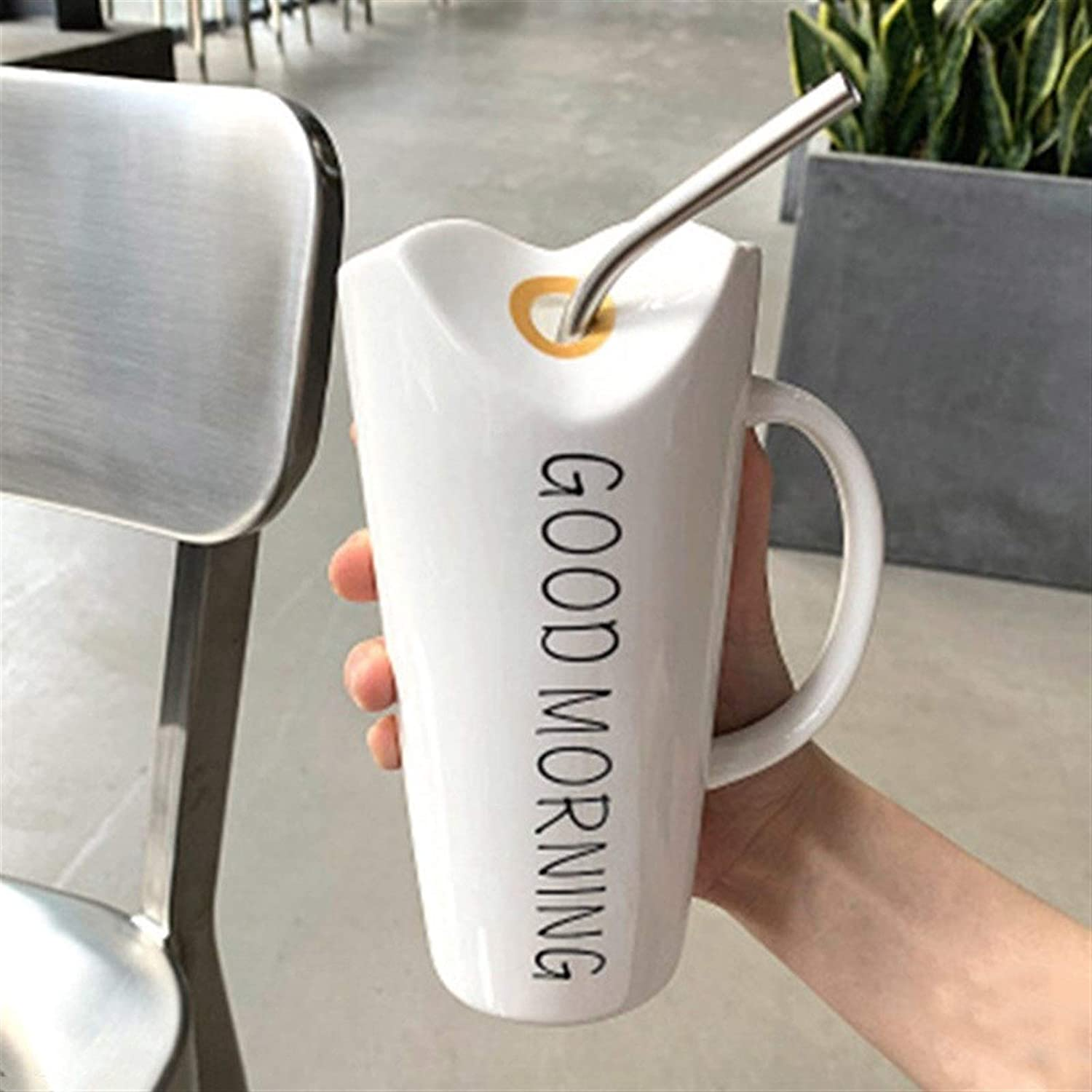 FZQSTZR Good Morning sunshine Coffee Cup Be super welcome Spring new work one after another Stainless With gl Steel