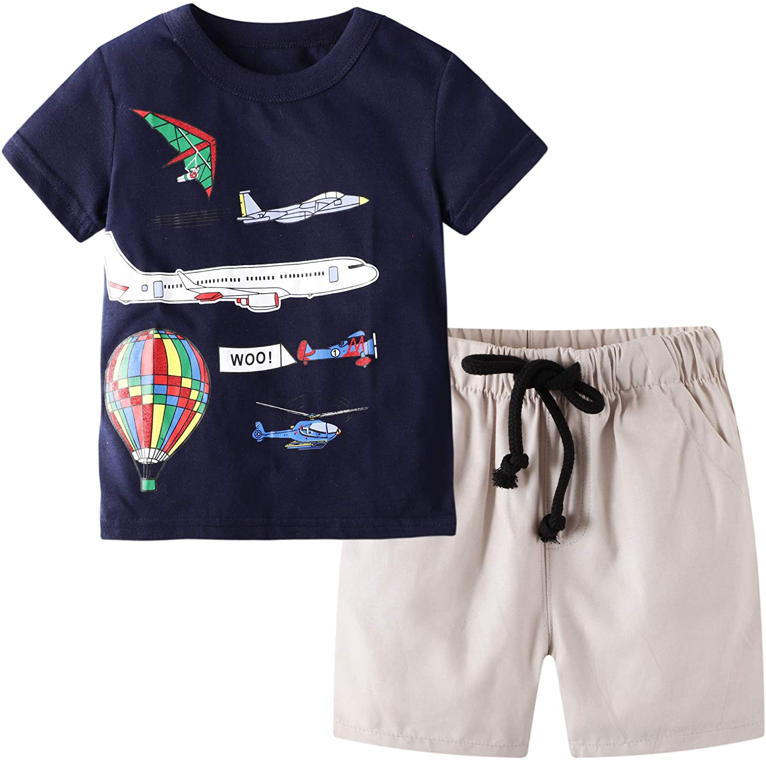 BIBNice Toddler Max 68% OFF Boy Direct stock discount Clothes Kids Short Shirt Outfits Summer Sets