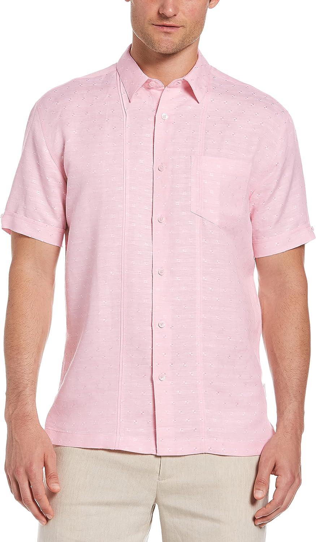 Cubavera Men's Standard Short Sleeve L/V Dobby Texture Tucks Pkt Shirt