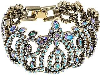 Heidi Daus Swarovski Crystal Beauty & The Beast Link Bracelet~ Feast Your Eyes