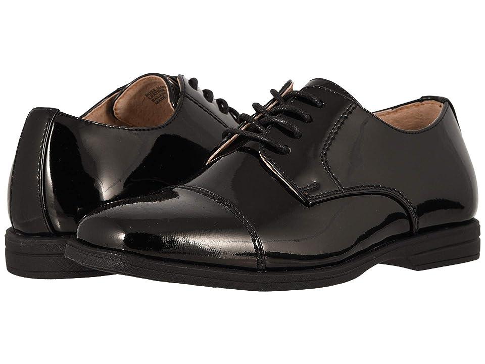 Florsheim Kids Reveal Cap Toe Ox, Jr. (Toddler/Little Kid/Big Kid) (Black Patent) Boys Shoes