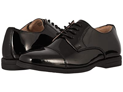 Florsheim Kids Reveal Cap Toe Ox, Jr. (Toddler/Little Kid/Big Kid) (Black Patent) Boys Shoes
