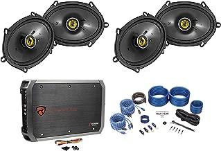 4 Kicker 46CSC684 CS68 6x8 450w Car Audio Speakers+4-Channel Amplifier+Amp Kit