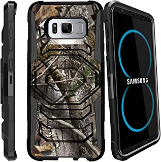 MINITURTLE Compatible with S8 Holster Camo Case| Samsung Galaxy S8 Case| SMG950 Case [Armor Reloaded] Holster + Rugged Impact Resistant + Stand Hunters Camouflage