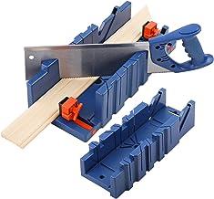 noone Caja de sierra ingletadora de 360 mm tipo ranura de ángulo para carpinteros, carpinteros, bricolaje, carpintería, herramienta manual