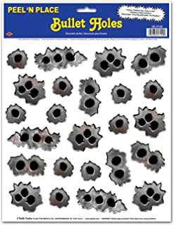Bullet Holes Peel N Place Party Accessory (24/Sh) (Value 3-Pack)