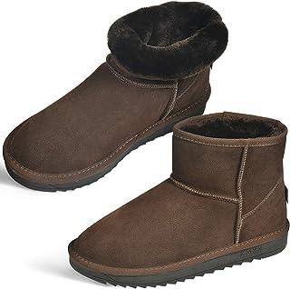 [スーパー ムートンブーツ スノーシューズ ミニ丈 スノーブーツ レディース メンズ 防水 防滑 撥水 防寒 雪 靴 滑らない 短靴