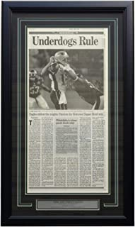Philadelphia Eagles Framed Feb 5 2018 Super Bowl 52 Champions Inquirer Underdogs