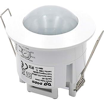 HUBER MOTION 8HF, detector de movimiento por radar 180 °, blanco, empotrado para montaje en interiores y paredes, altamente sensible gracias a la tecnología de alta frecuencia: Amazon.es: Bricolaje y herramientas