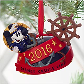 Disney Cruise Line DCL 2016 Captain Mickey Mouse Red Ear Hat Ornament