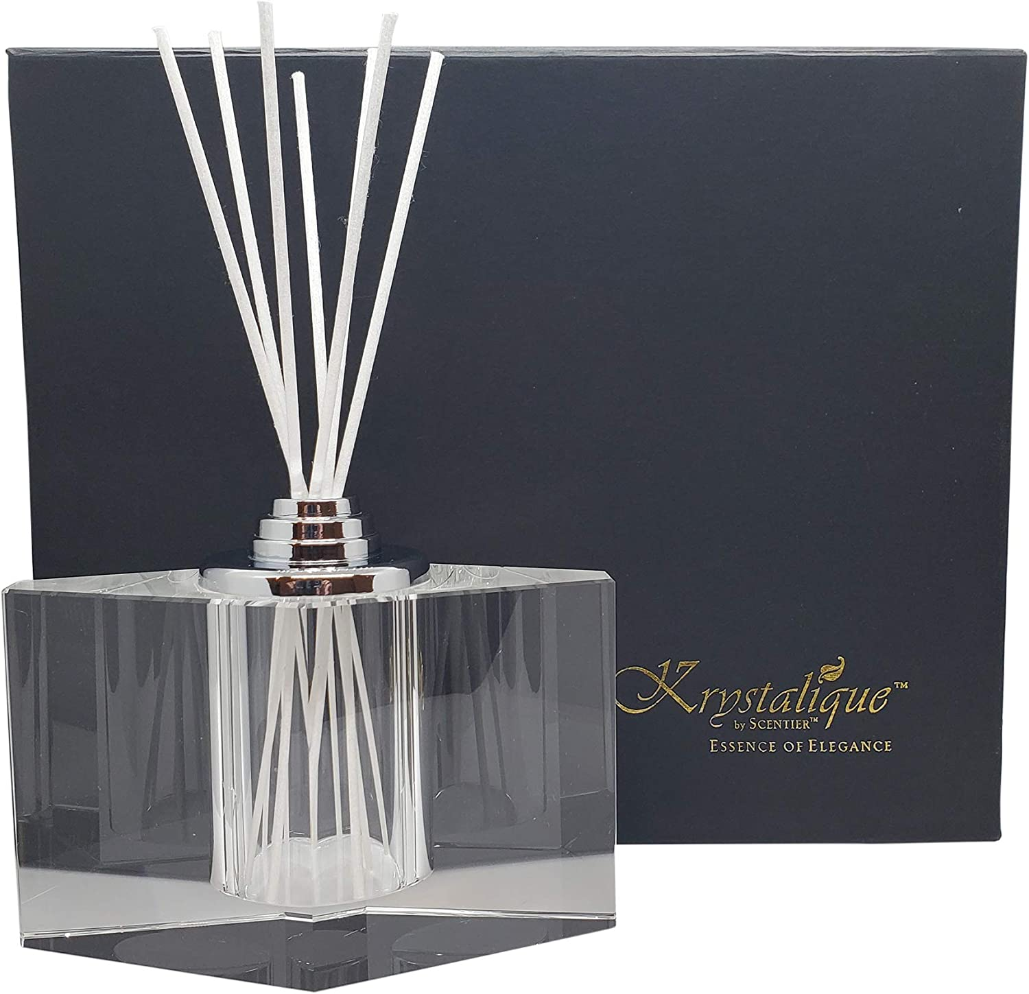 Scentier Crystal White Reed Diffuser Set Complete with Fruit Sli