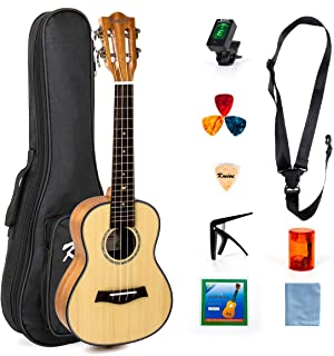 Ukulele Classical 23 Inch Ukulele Concert Hawaii Guitarra para principiantes Kit principiante Solid Spruce Caoba