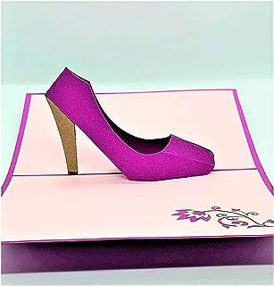 BC Worldwide Ltd carta pop-up 3D fatta a mano, tacchi alti, scarpe, auguri in bianco, grazie, compleanno, carta di celebra...