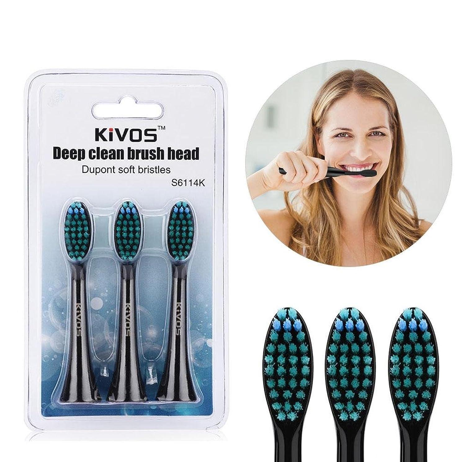 プロフェッショナルメロングラマー電動歯ブラシの頭部、子供旅行のための再充電可能な電動歯ブラシの頭部(Black Deep)